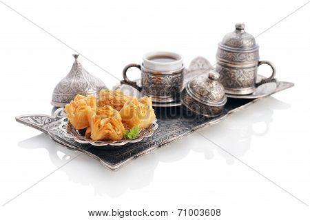 Turkish Baklava With Coffee