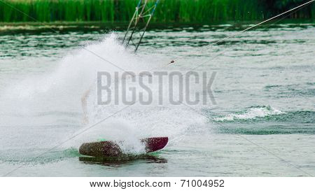 Wakeboarder Making Wave