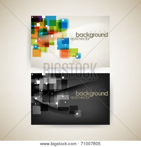 eps10 vector set multicolor and black business background
