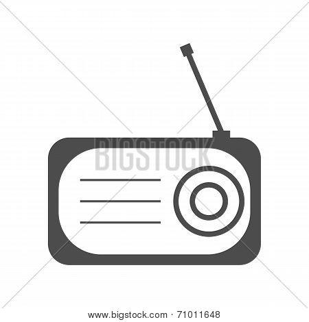 Radio Flat Icon Silhouette