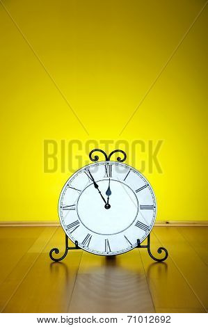 Old Antique Wall Clock Isolated