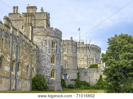 Medieval Windsor Castle In Berkshire, England.