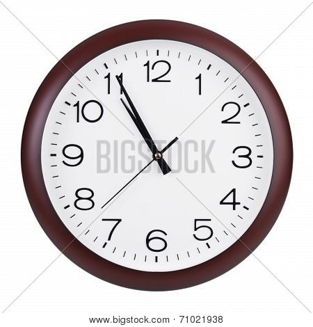 Five Minutes To Eleven On The Clock