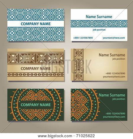 Visiting card set