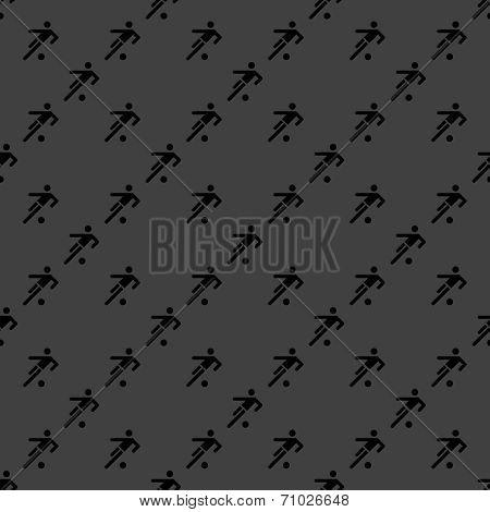 football player web icon. flat design. Seamless gray pattern.