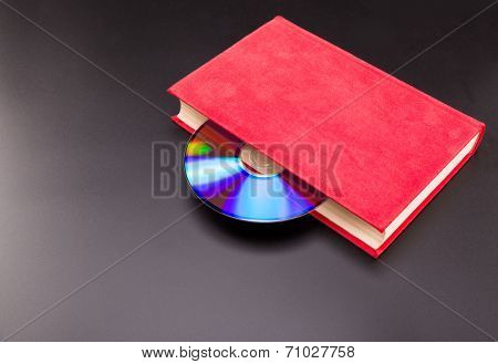 Cd is sticks out from red book
