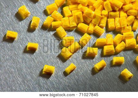 yellow polymer on stainless steel