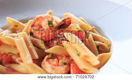 Penne With Shrimps And Garlic