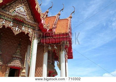 Thailand Tham Suea Temple With Blue Sky Background