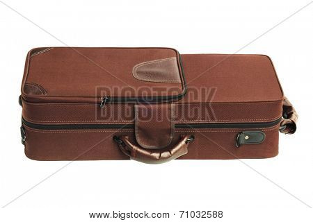 Carry Case For Brass Musical Instrument On White Background