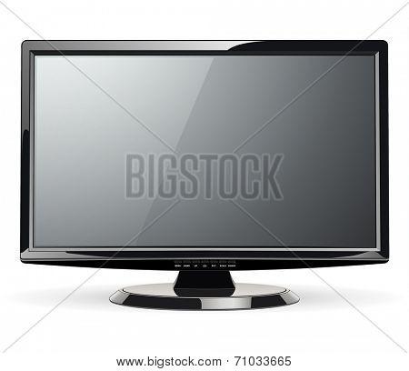 Monitor, led TV, vector illustration.