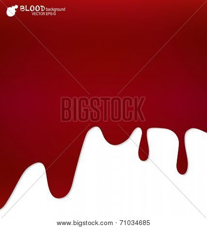 Blood dripping, blood background. Vector illustration.