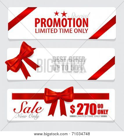 End of year sale savings labels set, price tag, sale coupon, voucher. Modern Style template Design vector illustration.