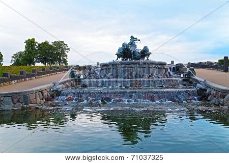 Gefion Fountain in Copenhagen