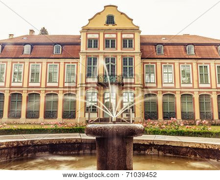 Gdansk - June 20: Abbots Palace Poland Oliva Park on June 20th, 2014 in Gdansk, Poland