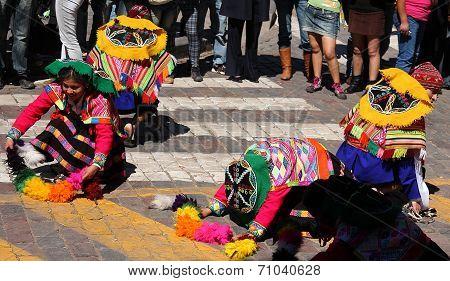 Dancers at Inti Raymi Festival, Cusco