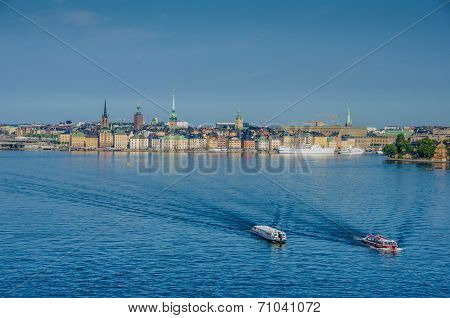 View of Stockholm from the Strommen
