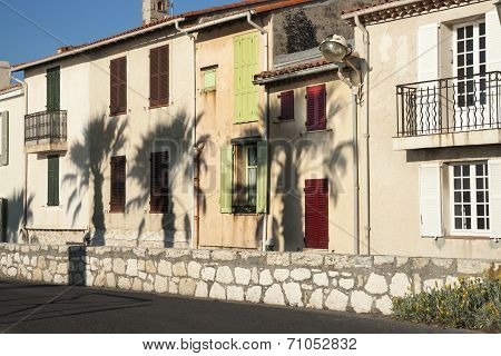 Row of homes, typical French.