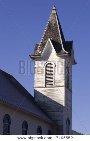 An old church steeple.