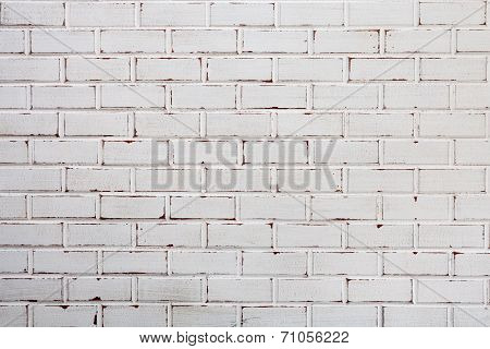 Old Brick Wall With Wood White Bricks