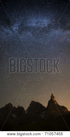 Milky Way Over Pale Di San Martino