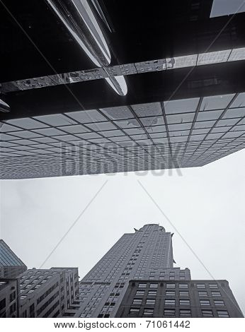Nyc - Looking Up. Chrysler Building.