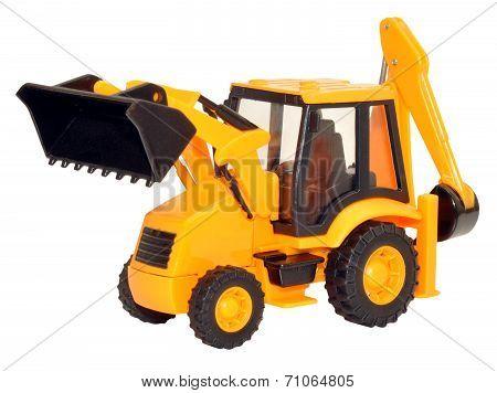 Yellow Toy Tractor Excavator