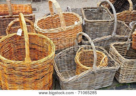 Traditional wicker baskets.