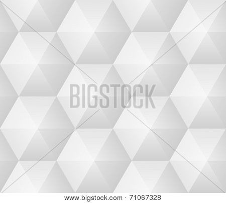 Vector Seamless Pattern - Geometric Modern Hexagon Polygon Background