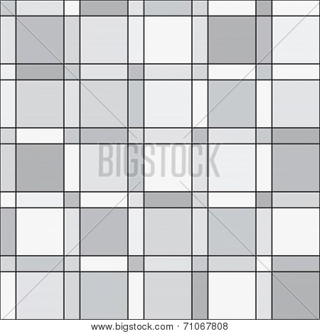 Vector Seamless Pattern - Squares Geometric Monochrome Simple Background