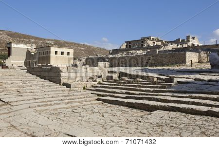 Palace Of Knossos In Crete. Greece