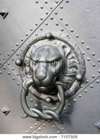 Old Door With Lion Head