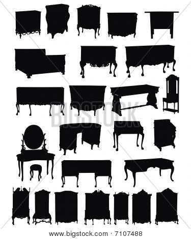 Antique Furniture Silhouettes