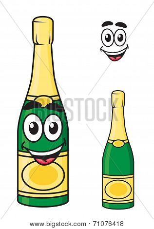 Carton champagne or sparkling wine bottle