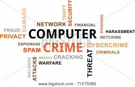 word cloud - computer crime