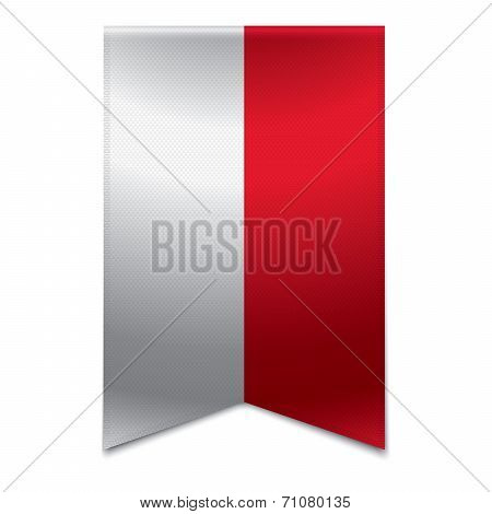 Ribbon Banner - Monegasque Flag