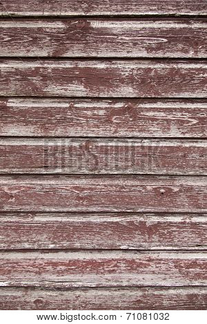 Background Consisting Of Weathered Reddish Brown Boards