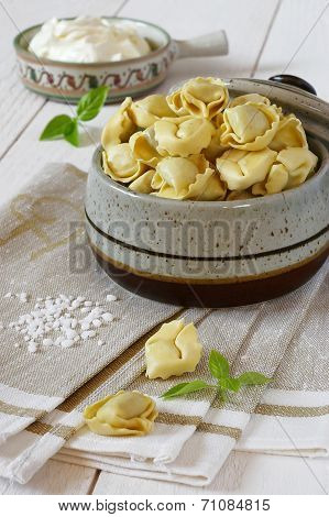 Ravioli With Sour Cream