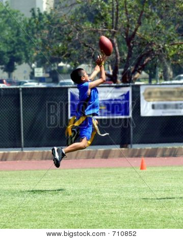 Catching Football In Air