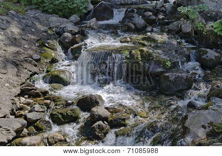 Waterfall cascade in river Skakavitsa in Rila mountain