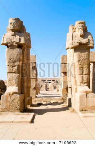 Statues Of Karnak Temple