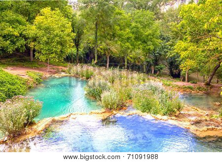 Turquoise And Blue Lakes