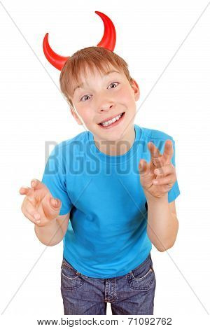 Kid With Devil Horns
