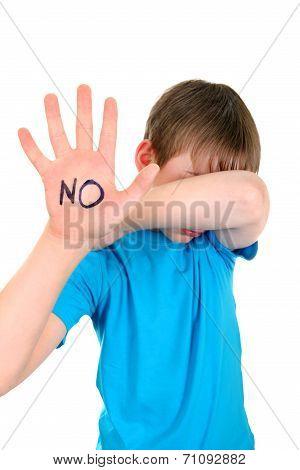 Kid With Refusal Gesture