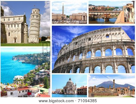 Collection - famous places of Italy