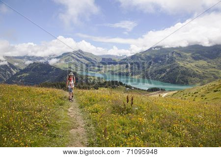 Hiking Near Lac De Roselend In The Beaufortain