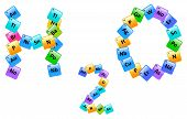 stock photo of periodic table elements  - Water Molecule Made Of Elements From The Periodic Table - JPG