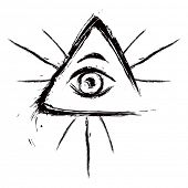 stock photo of all seeing eye  - Eye of Providence - JPG