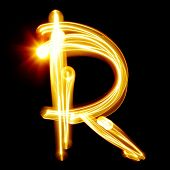 image of cursive  - R  - JPG