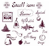 foto of snuff  - Snuff and tabacco icons set  - JPG